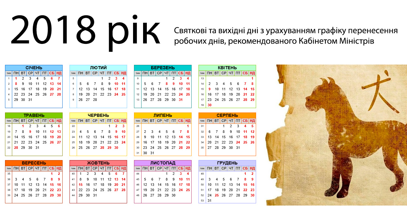 Все праздники в украине в 2018