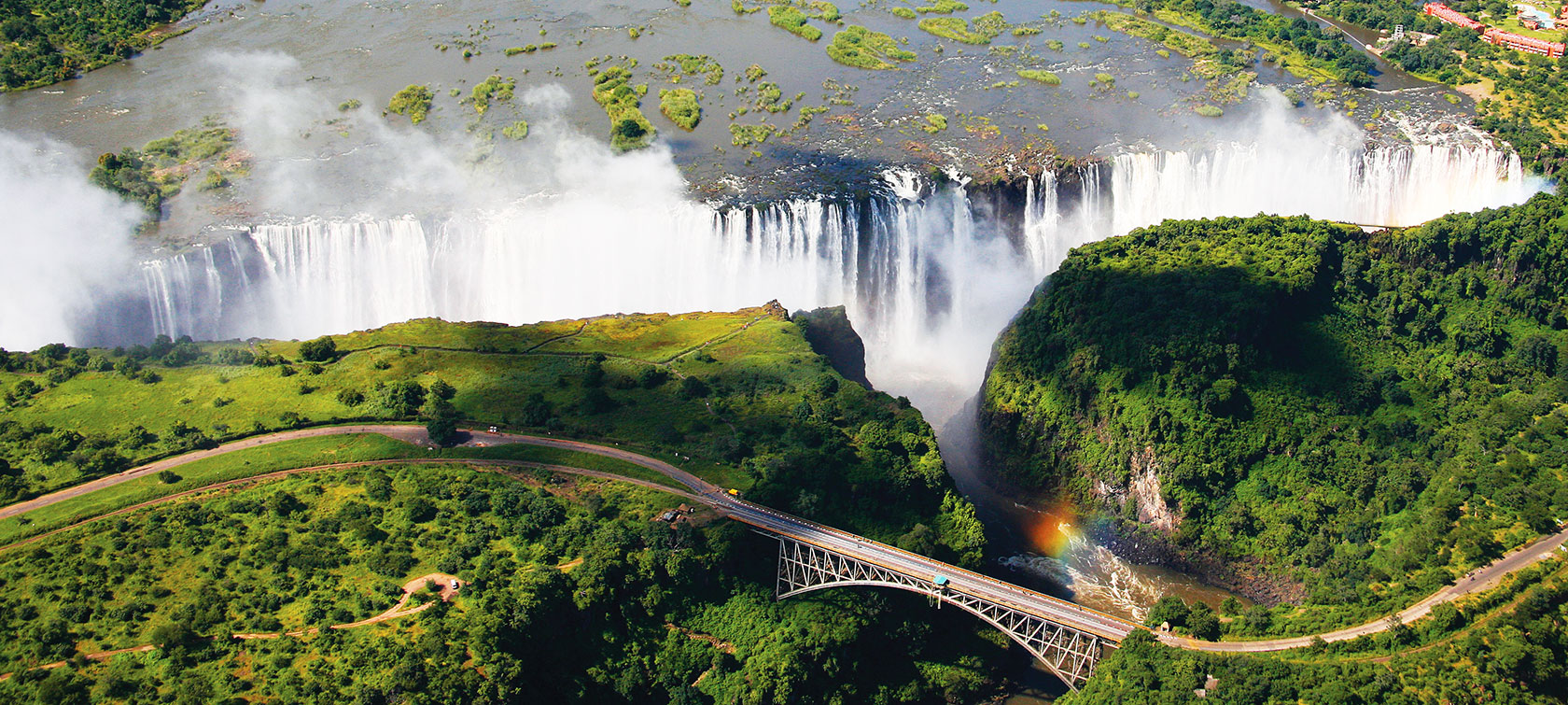 "victoria falls Victoria falls and zambezi national parks are situated on the western tip of zimbabwe the falls, known by the local kololo tribe as mosi oa tunya- the smoke that thunders, is one of the ""seven wonders of the world"" and one of the largest and most spectacular waterfalls on earth."